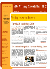 EARLI SIG Writing Newsletter 2010-2